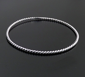 Full Single Twist Sterling Silver Bangle Bracelet #43106 $25.00