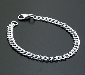"7"" Small Traditional Sterling Silver Charm Bracelet #12386 $35.00"