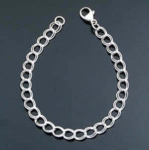 "7"" Medium Traditional Sterling Silver Charm Bracelet #12387 $45.00"