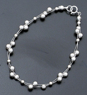 Illusion Sterling Silver Bracelet #26685 $40.00