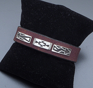 Supersmith Inc. - David Rosales Designs - Silver Country Sterling Silver & Brown Leather Bracelet #39927 BR71053 $135.00