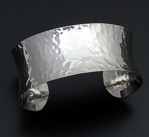 Zina - Sterling Silver Concave Sahara Cuff Bracelet #36559 $250.00