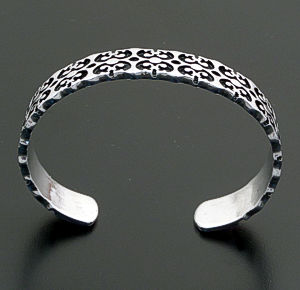 Supersmith Inc. - David Rosales Designs - Temptress Stamped and Oxidized Sterling Silver Cuff Bracelet #39931 BR520 $360.00