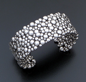 Zina - Wide Raindrops Cluster Sterling Silver Cuff Bracelet #42480 $450.00