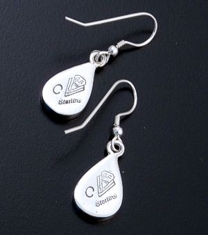 Supersmith Inc. - David Rosales Designs - Indian Summer Inlay & Sterling Silver Teardrop Dangle Earrings #33054 Style ER006 $155.00