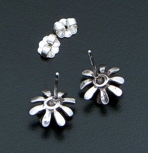 Zina - Small Sterling Silver Fireworks Earrings #36570 $60.00