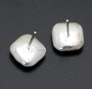 Zina - Small Sterling Silver Sahara Pillow Earrings #37422 $80.00
