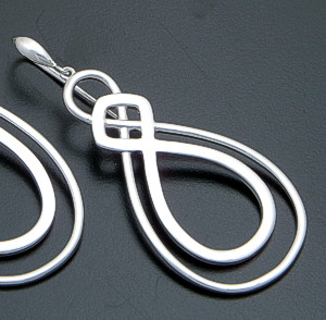 Zina - Infinity Sterling Silver Dangle Earrings #39599 $150.00
