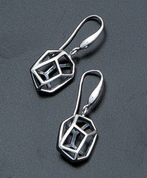 Zina - Prism 3D Sterling Silver Dangle Earrings #39605 $100.00