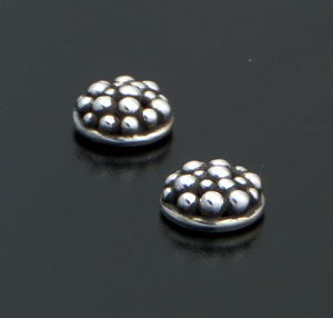 Zina - Round Raindrops Sterling Silver Stud Earrings #40883 $60.00