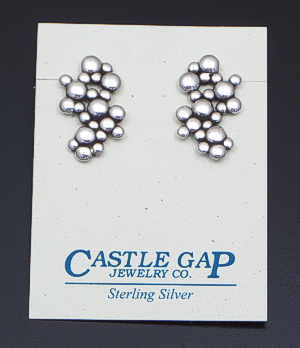 Zina - Sterling Silver Raindrops Cluster Earrings #41614 $100.00