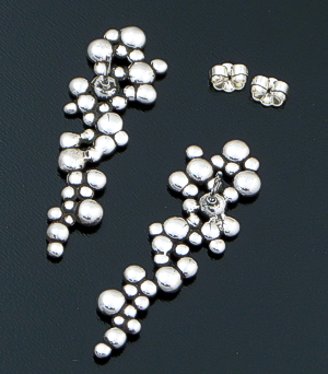 Zina - Elongated Raindrops Sterling Silver Cluster Earrings #42852 $150.00