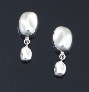 Zina - Baroque Pearl Sterling Silver Mixed Bead Post Dangle Earrings #43080 $110.00