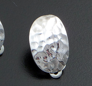 Zina - Sahara Concave  Sterling Silver Oval Clip-on Earrings #36565 $120.00