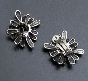 Zina - Sterling Silver French Clip Fireworks Earrings #36569 $195.00