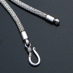 Balinese - Handmade Narrow Sterling Silver Woven Fox Chain $85.00 - $145.00