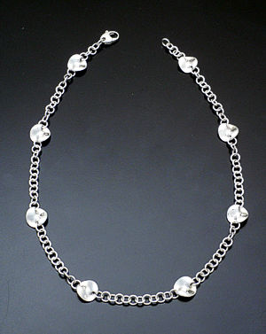 Zina - Small Sterling Silver Mobius Disc Necklace #36864 $450.00