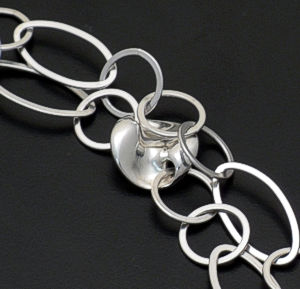 Zina - Mobius Sterling Silver Disc and Chain Necklace #36866 $650.00