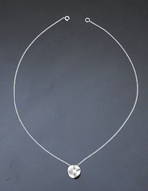Zina - Tiny Sterling Silver Mobius Pendant Necklace #36873 $75.00