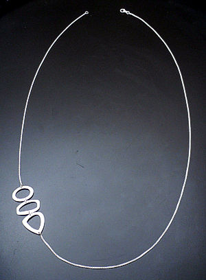 Zina - Sterling Silver Open Geometrics Long Chain Necklace #37289 $360.00
