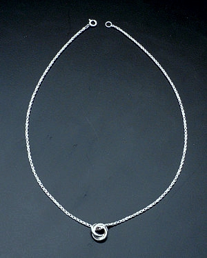 Zina - Sterling Silver Rolling Rings Pendant Necklace #37295 $120.00