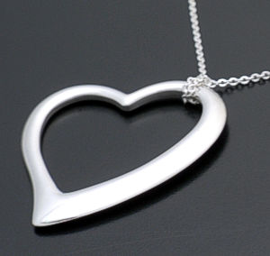 Zina - Sterling Silver Large Open Heart Pendant Necklace #37297 $240.00