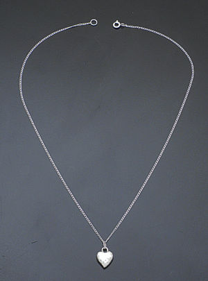 Zina - Sterling Silver Sahara Heart Pendant Necklace #37298 $85.00