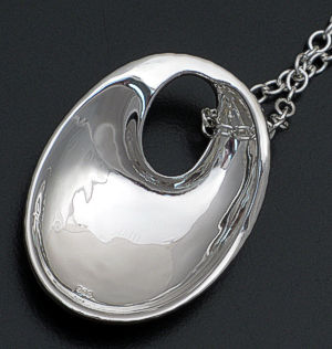 Zina - Sterling Silver Ripples Mobius Pendant Necklace #38538 $270.00