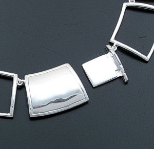 "Zina - 17"" Windows Open Full Link Sterling Silver Necklace #39593 $585.00"