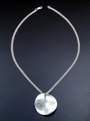 "Zina - 17"" Mobius Sterling Silver Double Chain Pendant Necklace #39622 $255.00"