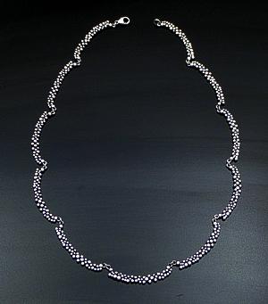 "Zina - 18"" Raindrops Sterling Silver Curved Bar Necklace #40879 $375.00"