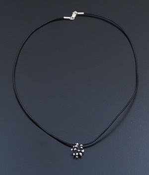 "Zina - 16"" Small Fireworks Sterling Silver & Leather Pendant Necklace #41529 $60.00"