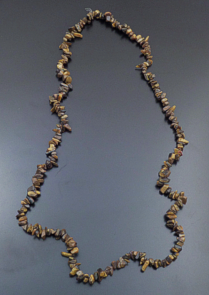 "34"" Long Continuous Tigers Eye Nugget Necklace #43383 $30.00"