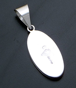 Supersmith Inc. - David Rosales Designs - Shalako Oval Sterling Silver Inlay Pendant #36461 Style P329 $210.00