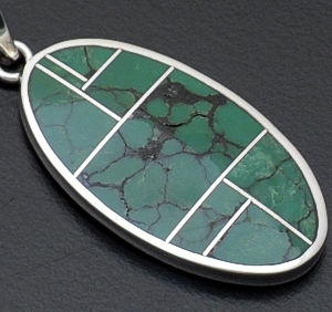 Supersmith Inc. - David Rosales Designs - Chaparral Oval Sterling Silver Pendant #36465 Style P329 $210.00