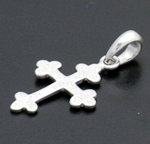 acleoni - Small Stamped  Sterling Silver Cross Pendant #38802 $25.00