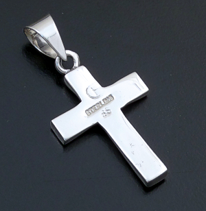 Supersmith Inc. - David Rosales Designs - Amazing Light Inlay & Sterling Silver Small Cross Pendant #39391 Style P182 $145.00