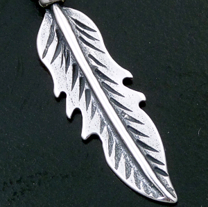 Small Sterling Silver Feather Pendant #40568 $15.00
