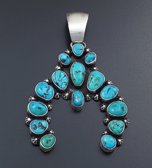 Castle gap jewelry sterling silver native american jewelry ben johnson navajo large 15 stone turquoise satin finished sterling silver naja aloadofball Images