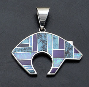Supersmith Inc. - David Rosales Designs - Shalako Sterling Silver Bear Pendant #6293 Style P259 $480.00