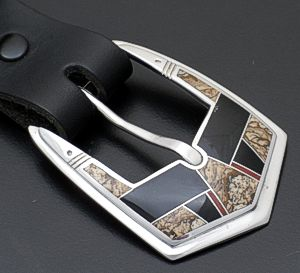 Supersmith Inc. - David Rosales Designs - Fire Creek Sterling Silver Inlay Ranger Set #37015 $795.00
