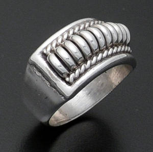 Tom Charlie - Narrow Sterling Silver Coil Ring #2659 $95.00