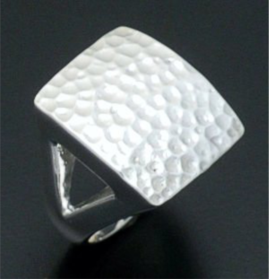 Zina - Large Sterling Silver Ripple Ring #36568 Size 8 $300.00