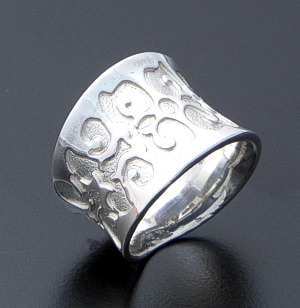 Supersmith Inc. - David Rosales Designs - Temptress Concave Sterling Silver Ring #39417 Style R5000 $105.00