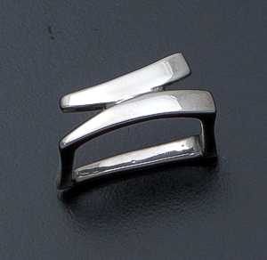 Zina - Accented Square Sterling Silver Ring #40470 $180.00
