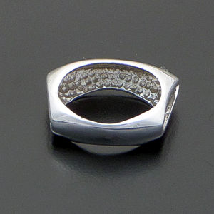 Open Beveled Rectangular Smooth Sterling Silver Ring #40795 $40.00
