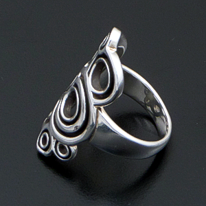 Zina - Large Spiralz Sterling Silver Ring #42839 $195.00